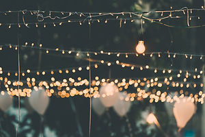 Light bulb decor in outdoor party.jpg