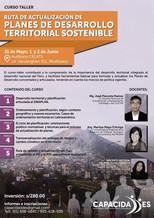 Curso-Taller: Ruta de actualización de Planes de Desarrollo Territorial Sostenible
