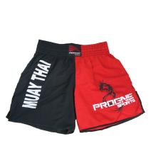 Calção Preto/vermelho Muay Thai Progne