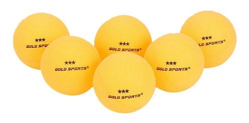 Kit com 6 bolinhas de ping pong 3 Estrelas Gold Sports