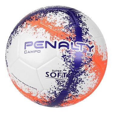 Bola Futebol Campo Penalty RX R3 Fusion VIII - Branco e Roxo