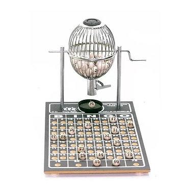 Jogo tabuleiro / bingo - vispora - N1 - 75 pedras - cromado - Três Reis