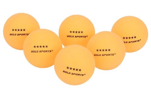 Kit com 6 bolinhas de ping pong 5 Estrelas Gold Sports