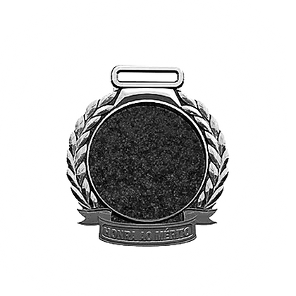 Medalha Rema - Prata Grande ( pct c/ 5uni )