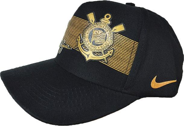 Boné Aba Curva Corinthians Dourado