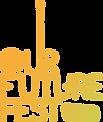 OurFutureFest_LogoLockUp-01_PeachOnBlk_e