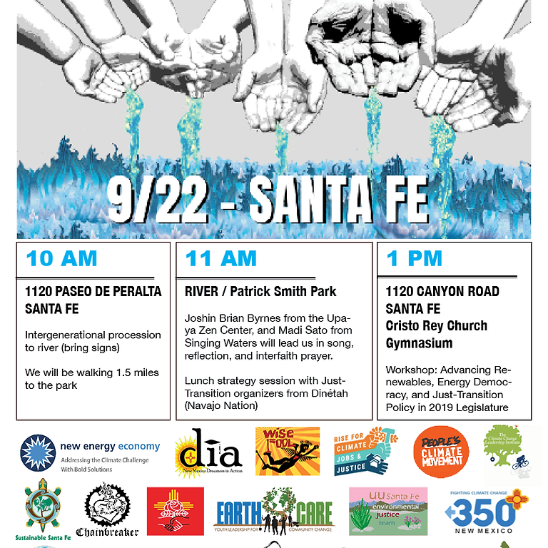 Rise for Climate, Jobs, and Justice SANTA FE