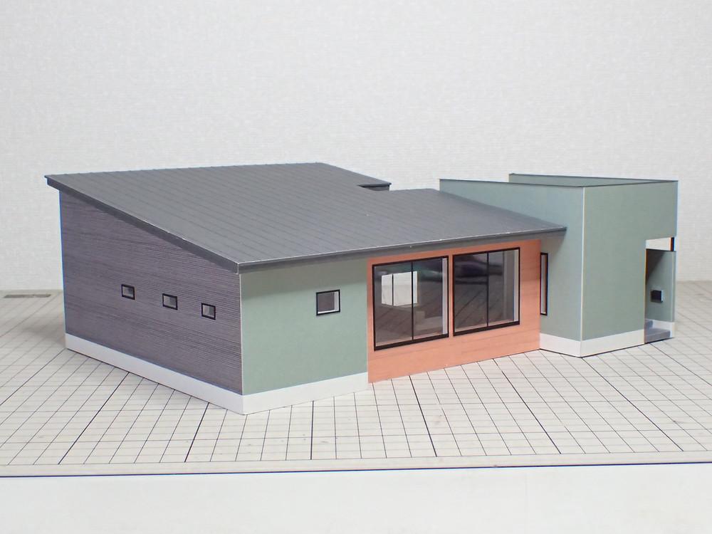 建築模型 カラー模型 森住建様 M邸 建物完成
