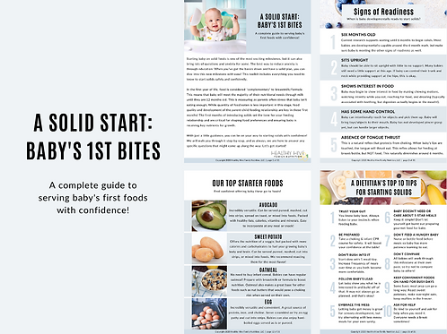A Solid Start: Baby's 1st Bites Toolkit