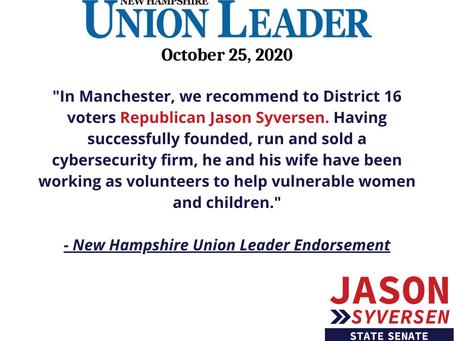 Union Leader Endorsement: Jason Syversen for State Senate District 16