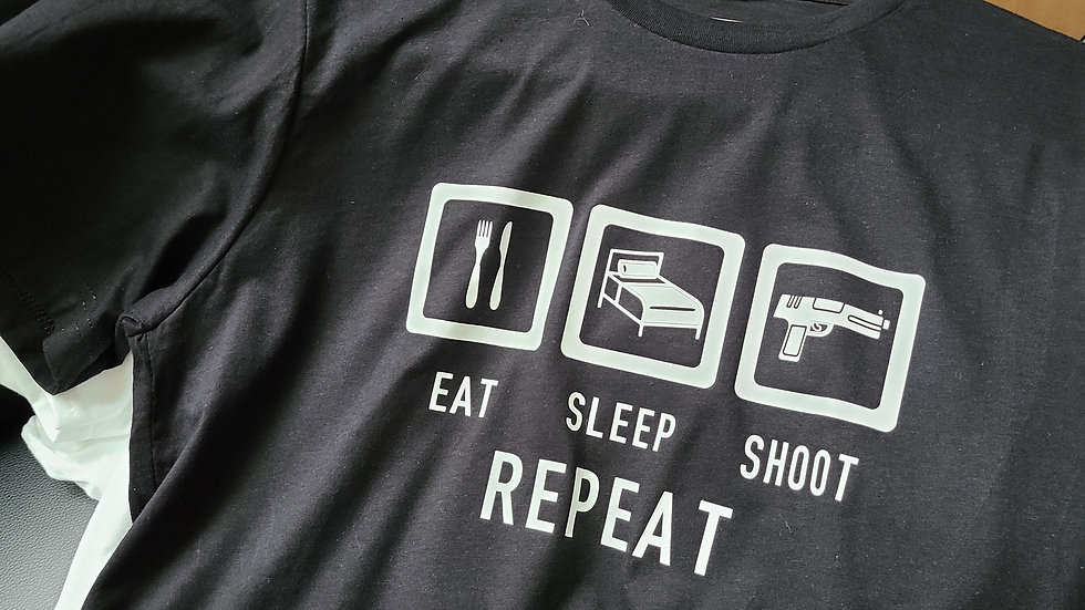 Eat, Sleep, Shoot. Repeat
