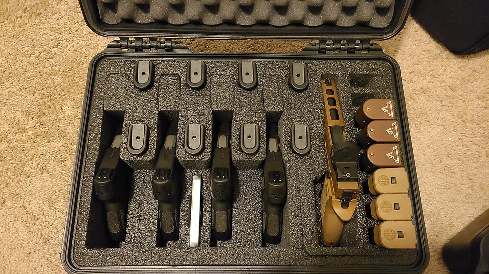 5 Pistol and 20 Magazine Pre-Cut Heavy Duty Waterproof Case W/Gel Canister