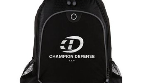 Champion Defense embroidered Back Pack