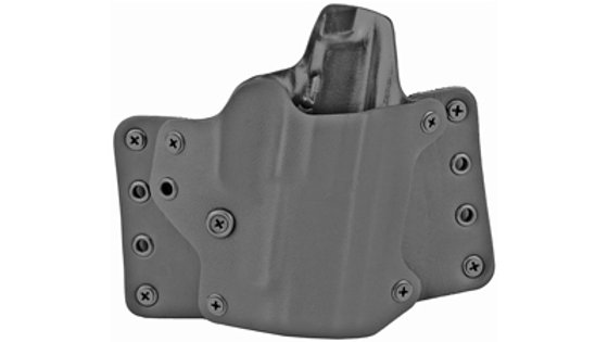 BlackPoint Tactical, Leather Wing OWB Holster, Fits Glock 43X, Right Hand, Black