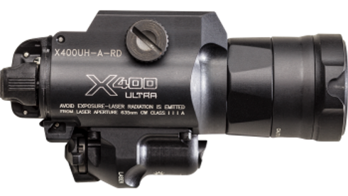 X400UH-A-RD Ultra-High-Output White LED + Red Laser WeaponLight