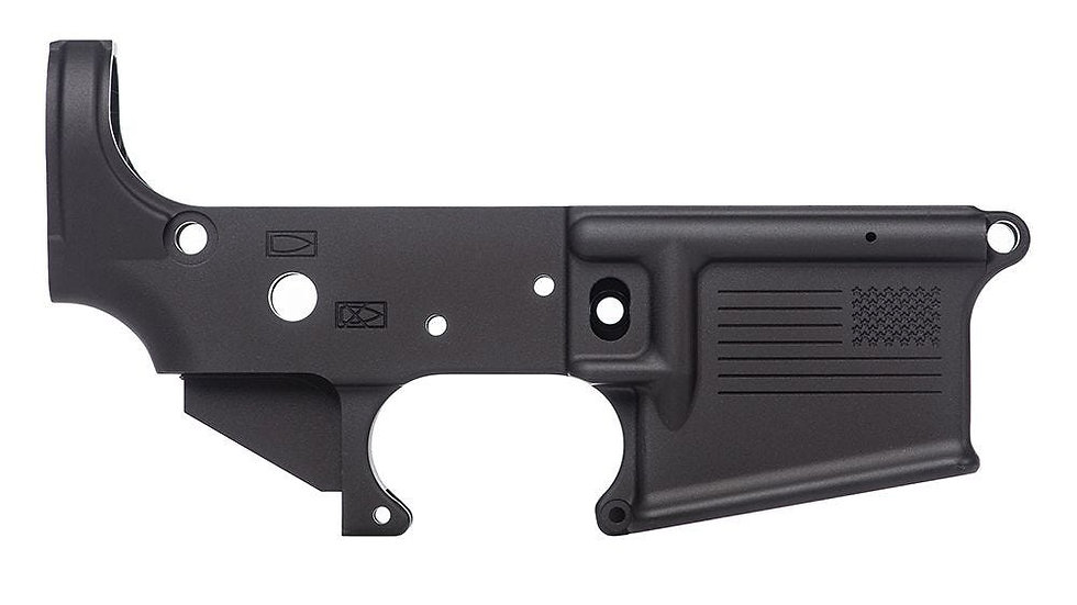AR15 Stripped Lower Receiver, Special Edition: Freedom - Anodized Black