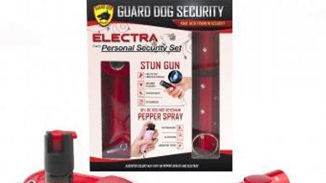 Electra Gift Set - Red & Red Concealed lipstick stun gun w/ soft case keychain p
