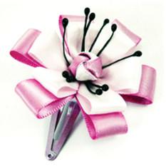 Ribbon application as hair decoration