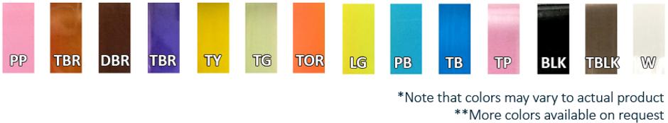 TPU Ribbon Color Options