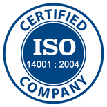 ISO 14001 : 2004 certified