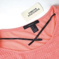 Ribbon used as clothing hanger loop