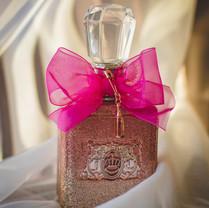 Ribbon used as perfume decoration
