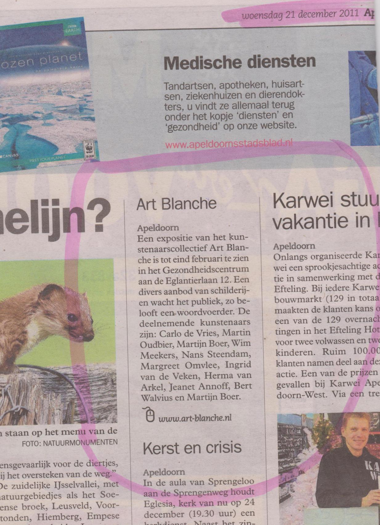 expositie art blanche kunst apeldoorn