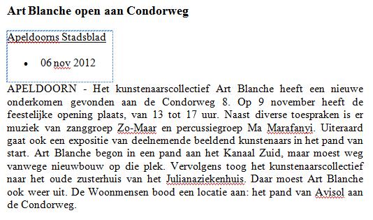 expo condorweg nov 12 stadsblad.png