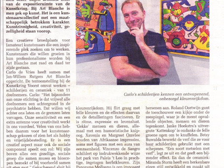 artikel in Voorster Nieuws over expo Twello