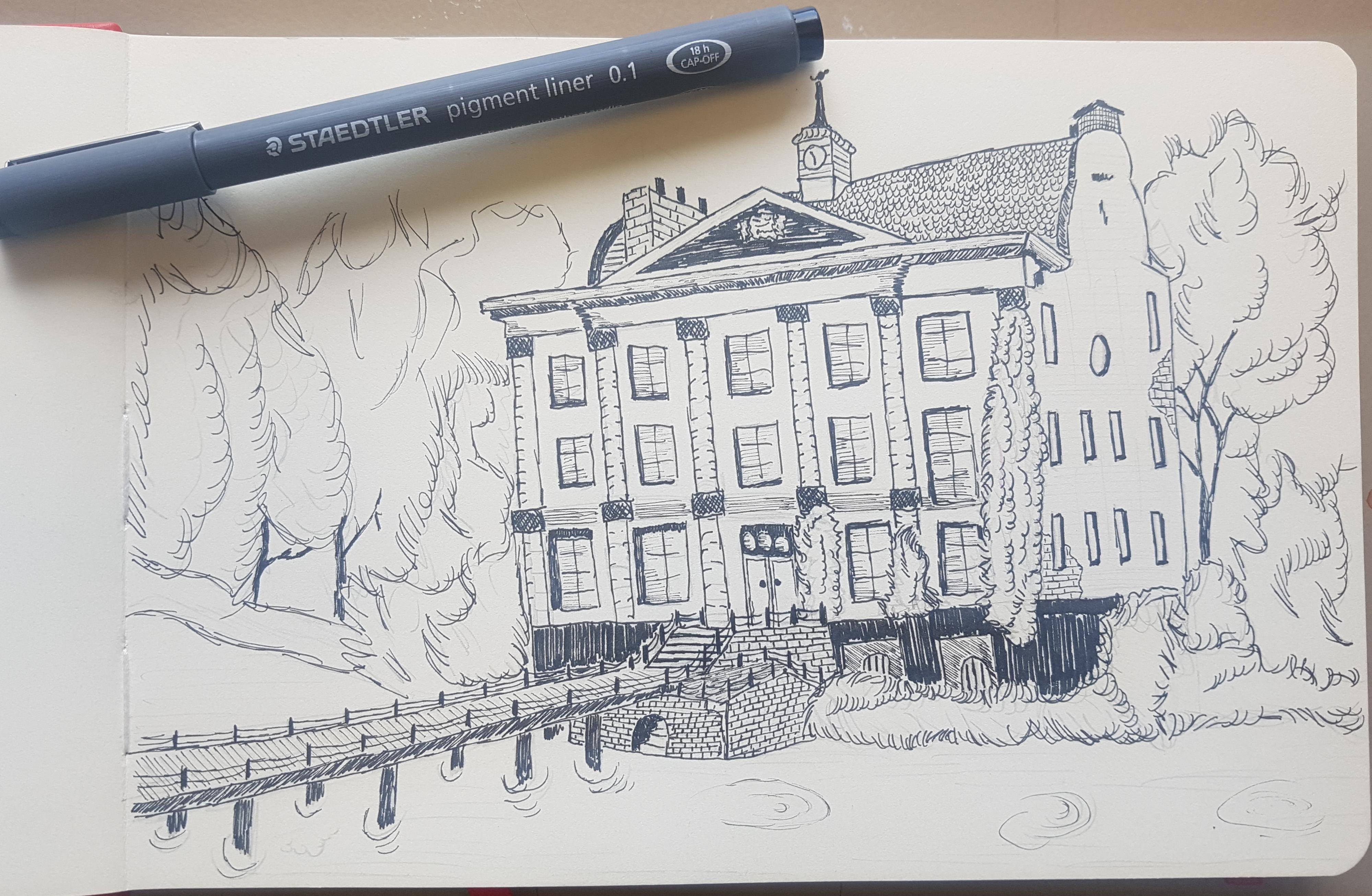 pen tekening huis