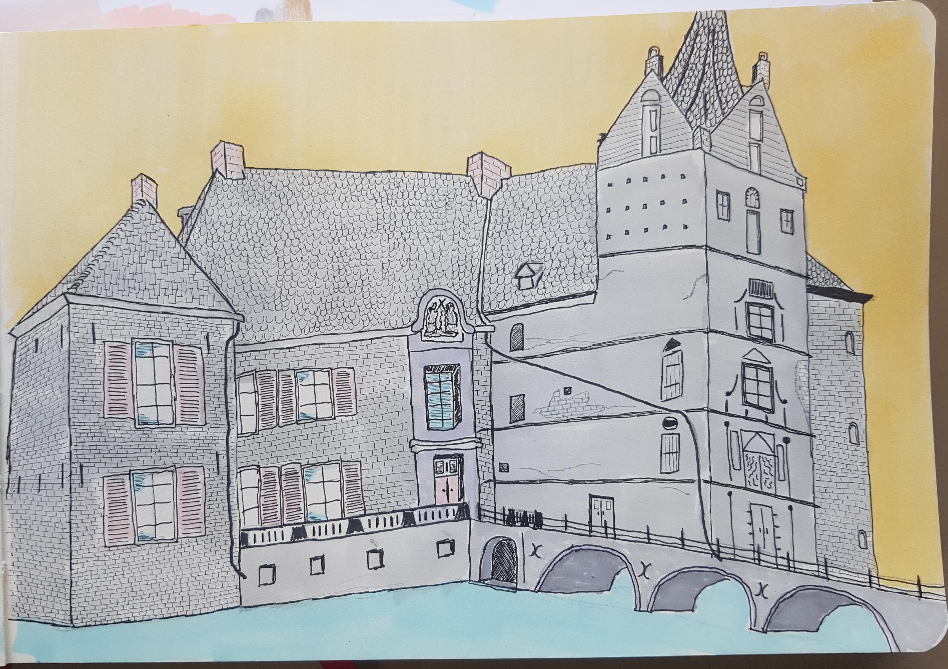 pen tekening kasteel