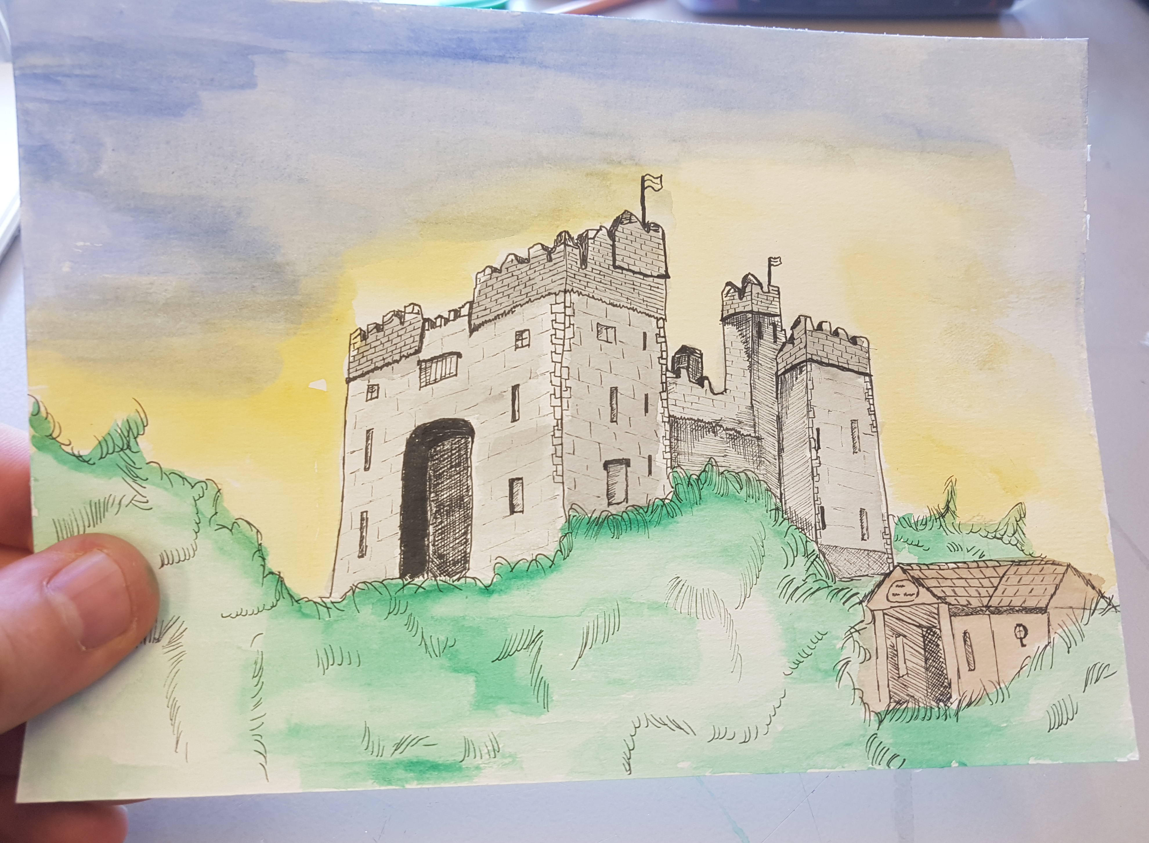 kasteel tekening