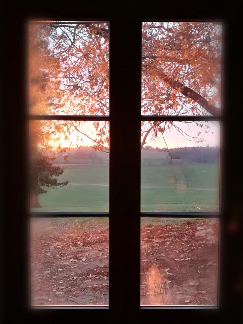 le coucher de soleil