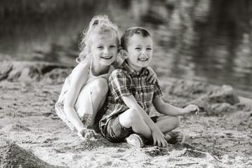 Séance frère et soeur - Lac des Settons