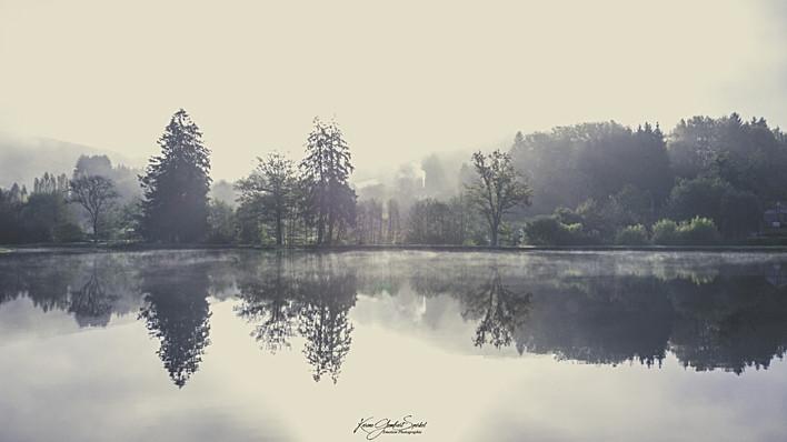 21- Brume matinale sur l'étang d'Yonne