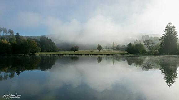 20- Etang d'Yonne entouré de brume