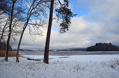 13- Plage de neige - Lac des Settons