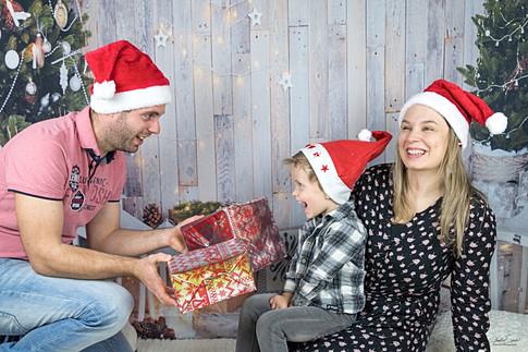 Séance famille - Thème Noël - Moulins Engilbert