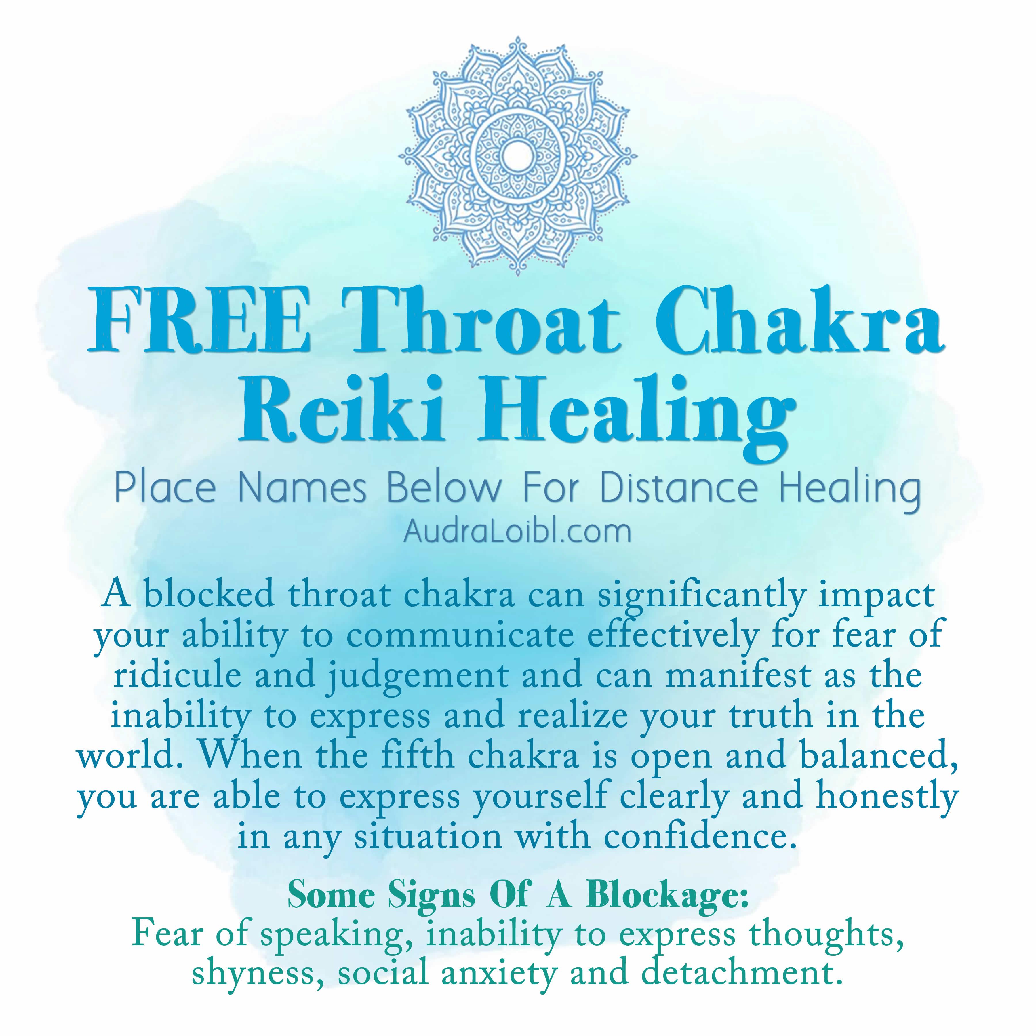 FREE THROAT CHAKRA DISTANCE REIKI HEALING SESSION
