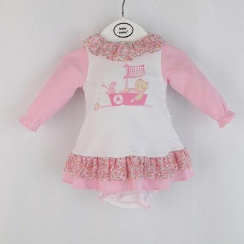 combirobe bébé fille coton ref 2496-203