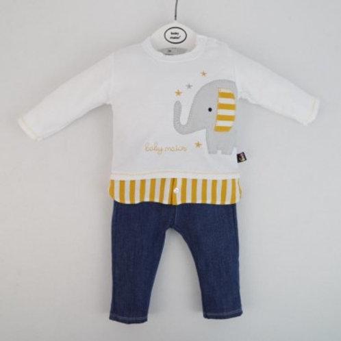 pantalon jean et haut bébé garçon Ref.: 618-20148
