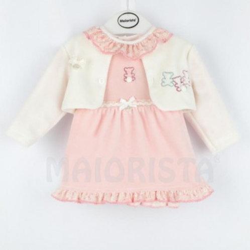 Ensemble robe et veste bébé fille ref.528-1355