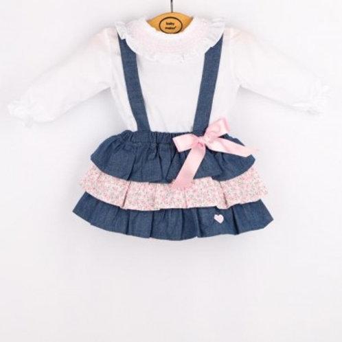 Robe jean et haut bébé fille Ref.: 502-459