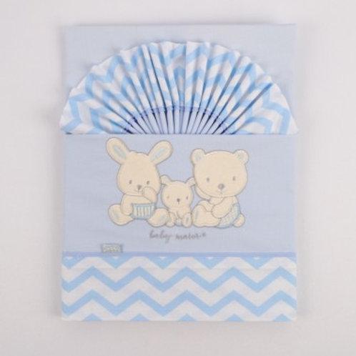 Jeu de 2 draps lit coton oursons Ref.: 2489-342
