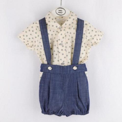 ensemble salopette jean et chemise Ref.: 583-2034