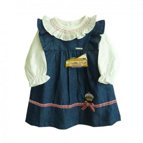 Robe et chemise jean bébé fille Ref.: 502-439