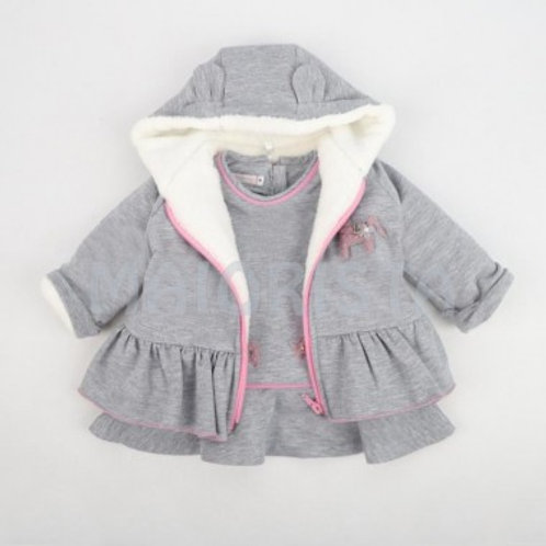 Ensemble bébé fille avec capuche-echarpe ref.2356-3179