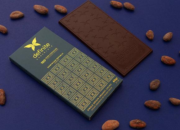 Definite Chocolate Bar - 100% Dark Chocolate (60g)