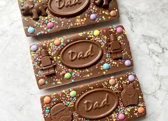 Cocoa & Paper Father's Day Chocolate Bar - 150g