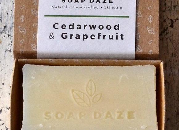 Soap Daze Cedarwood & Grapefruit Handmade Natural Vegan Soap Bar